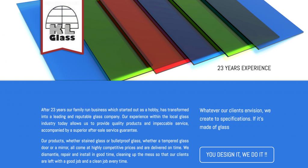 KL Glass Website